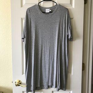 ASOS grey tee shirt dress